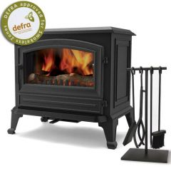 Broseley York Grande DEFRA Approved Multifuel Stove - Matte Black