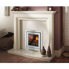 Crystal Fires Gem 3 Sided Coal Manual Control Gas Fire - Brushed Steel Royale