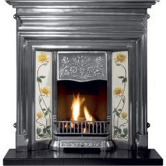 Gallery GECIF48 Edwardian Cast Iron Fireplace - Black