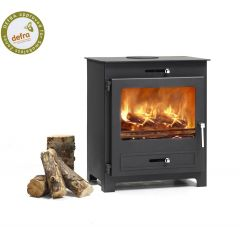Broseley Silverdale 7 DEFRA Approved Wood Burning Stove - Matte Black