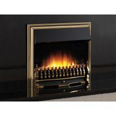 Flamerite Essence Tyrus 22 Inch Manual Control Electric Fire - Brass