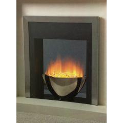 Flamerite Essence Sonata Manual Control Electric Fire - Silver