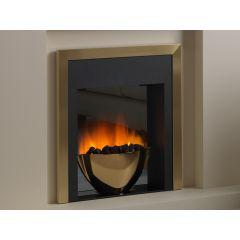 Flamerite Essence Sonata Manual Control Electric Fire - Brass