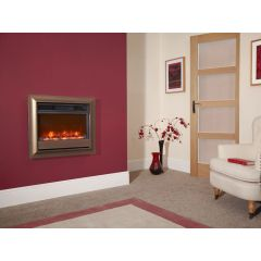 Celsi Oxford 22 Inch Wall Mounted Electric Fire - Brown