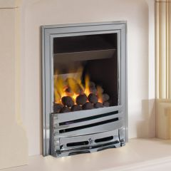 ekofires 3060 Coal Manual Control Gas Fire - Chrome Mono Fret/Chrome Classic Inlay