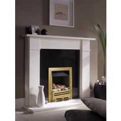 ekofires 3060 Pebble Manual Control Gas Fire - Brass Mono Fret/Brass Classic Inlay
