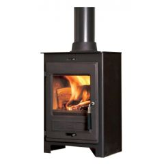 Flavel No 1 SQ05 Smoke Exempt Multifuel Stove - Matte Black