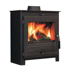 Flavel No 2 SQ07 Smoke Exempt Multifuel Stove - Matte Black