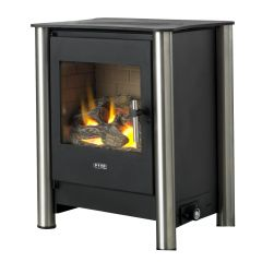 Esse 525 Remote Control Flueless Gas Stove - Stainless Steel Legs