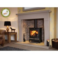 Flavel Rochester 7 DEFRA Approved Multifuel Stove - Matte Black