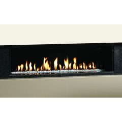 Gazco Studio 2 Edge Open Fronted Gas Fire with White Stones in Natural Gas
