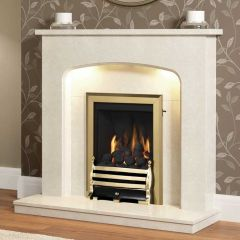 "Be Modern Tasmin 42"" Marble Fireplace Suite"