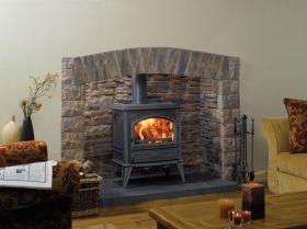 Dovre 640 Wood Burning Stove - Matte Black