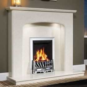 """Be Modern Viola 48"""" Marble Fireplace Suite"""