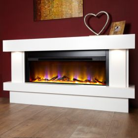 Celsi VR Orbital Illumia Electric Fireplace Suite