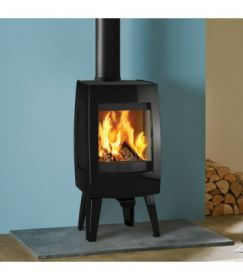 Dovre Sense 100 Wood Burning Stove - Gloss Black Enamel