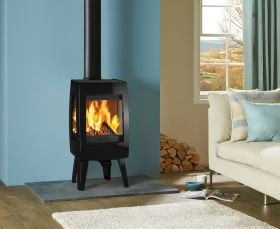 Dovre Sense 103 Wood Burning Stove - Matte Black / Glass Sides
