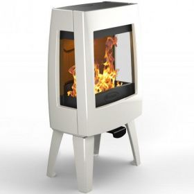 Dovre Sense 103 Wood Burning Stove - Pure White Enamel / Glass Sides