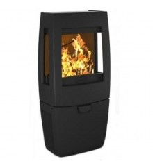 Dovre Sense 203 Wood Burning Stove - Matte Black / Glass Sides