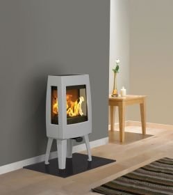 Dovre Sense 103 Wood Burning Stove - Grey Enamel / Glass Sides