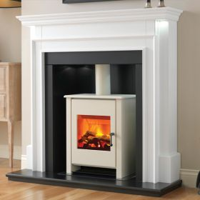 Flamerite Aubade with Atom Stove Electric Fireplace Suite