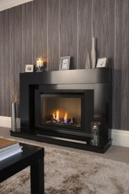 Crystal Fires Connelly Collection Tulsa Tall HE Log Gas Fire - Trimless W/ Black Interior