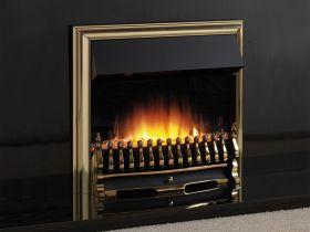 Flamerite Essence Tyrus 22 Inch Remote Control Electric Fire - Brass