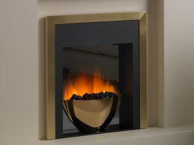 Flamerite Essence Sonata Remote Control Electric Fire - Brass