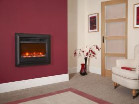 Celsi Oxford 22 Inch Wall Mounted Electric Fire - Black