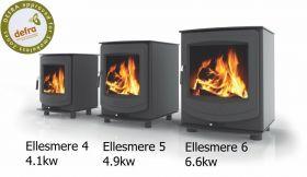 Aga Ellesmere 4 Multifuel Stove - Matte Black