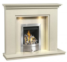 Caterham Cambridge 48 Inch Fireplace - Bianca Beige