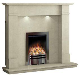 Caterham Windermere 54 Inch Fireplace - Bianca Beige