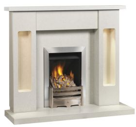 Caterham Melbourne 54 Inch Fireplace - Arctic White