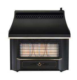 Valor Black Beauty Radiant Electronic Ignition Gas Fire - Black