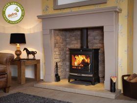 Flavel Rochester 7 DEFRA Approved Multifuel Stove - Matte Black